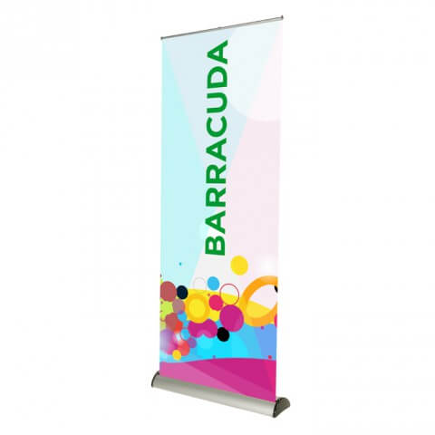 Variable-height banner stand - Barracuda roller banner