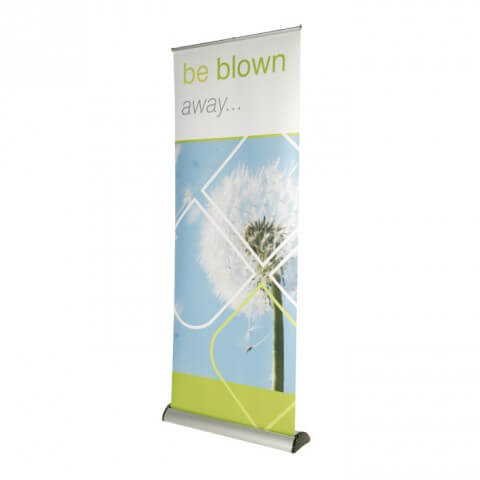 Barracuda roller banner - graphic example - be blown away