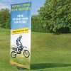 Blizzard outdoor banner - graphic example - motor cross race