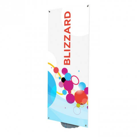 Blizzard outdoor banner - full view - exhibition display