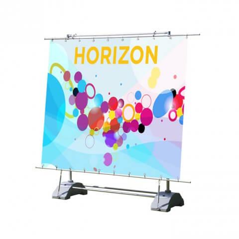 Outdoor banner, freestanding - Horizon outdoor banner -