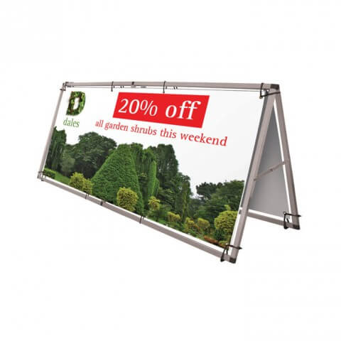 Monsoon outdoor banner- graphic example - 20% off