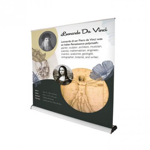Original 2 roller banner - graphic example - leonardo da vinci