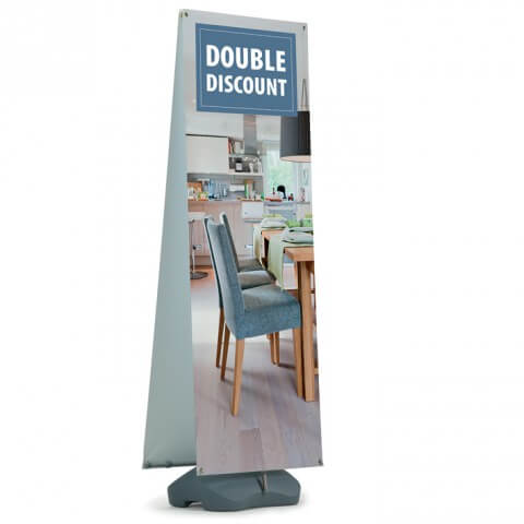 Polar outdoor banner - graphic example - double discount