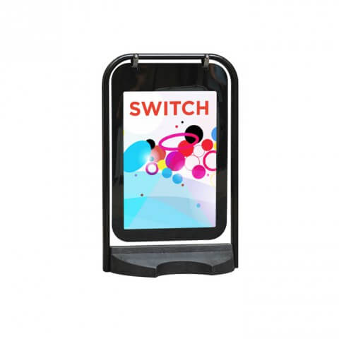 Switch swing sign - exhibition display