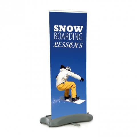 Typhoon outdoor banner - graphic example - snowboarding lessons