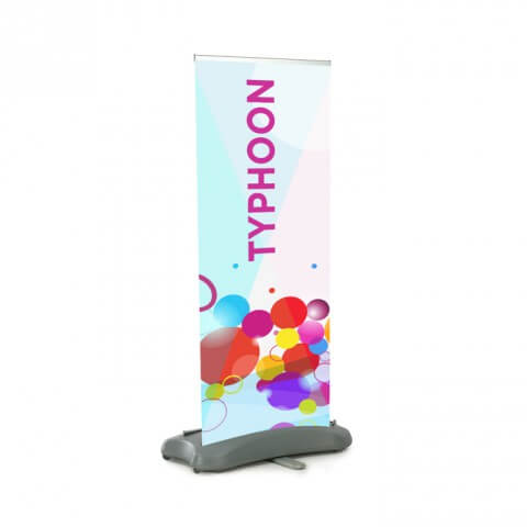 Typhoon outdoor banner - full view - exhibition display