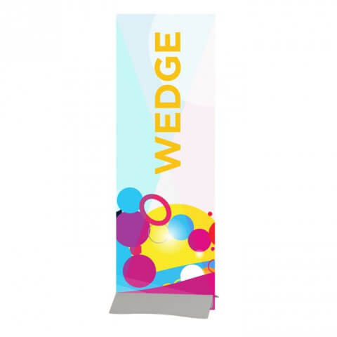 Indoor banner stand - Wedge rigid banner Fresco - exhibition display