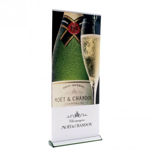 Quickscreen Cassette Banner - graphic example - moet & chandon