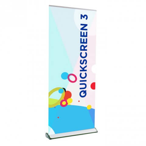 Quickscreen Cassette Banner - full view - exhibition display