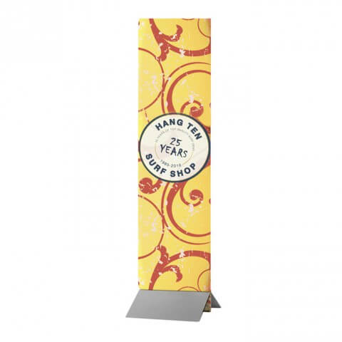 Wedge rigid banner - graphic example - hang ten surf shop