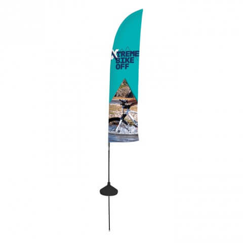 Zoom aqua flag feather - outdoor - graphic example - Xtreme bike off