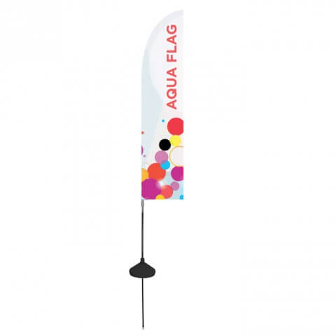 Zoom aqua flag feather - outdoor