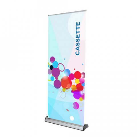 Swap-out banner stand - Cassette roller banner stand