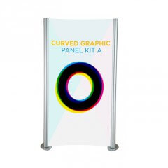 Linear curved graphic panel kit A - full view - Exhibition display