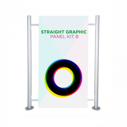 Straight graphic panel kit