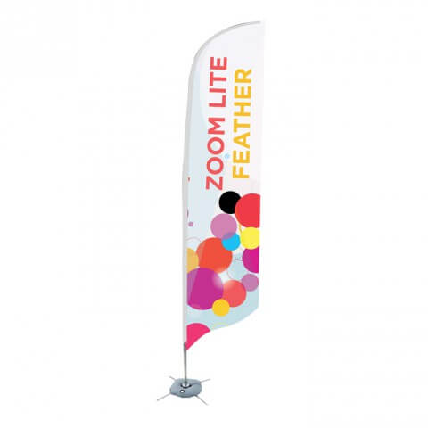 Zoom flag Feather - Fresco flag range - outdoor