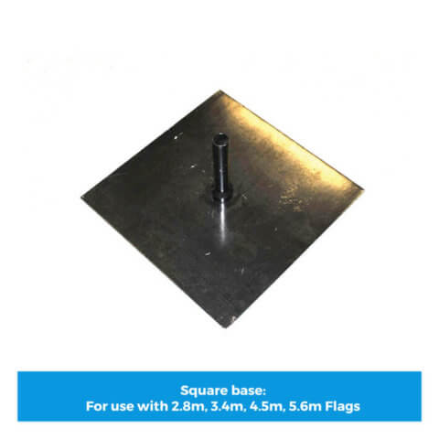 Square flag base