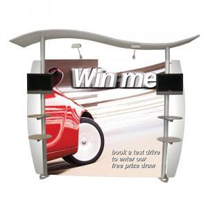 Aluminium frame display - Linear Wave display