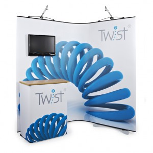 Freestanding curvy display stand - Twist display