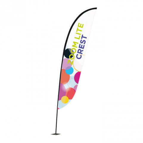 Zoom flag Crest - Fresco flag range -outdoor