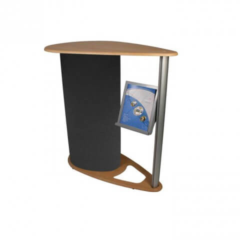 Comet Counter Stylish Counter With Integral Literature Holder