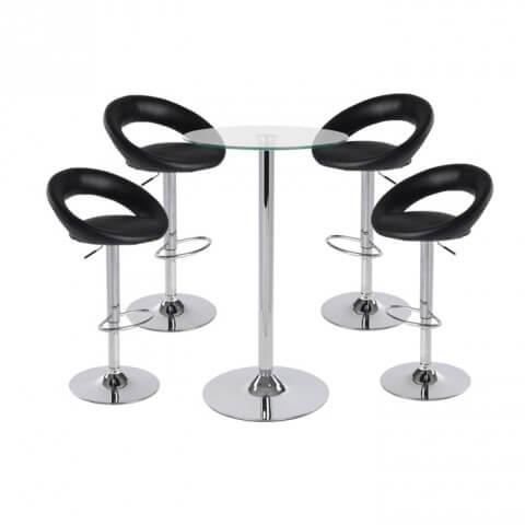 Sorrento bar stool - black colour set - furniture, bags etc