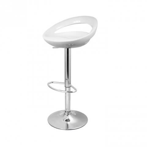 Sorrento swivel stool - white plastic colour - furniture, bags etc