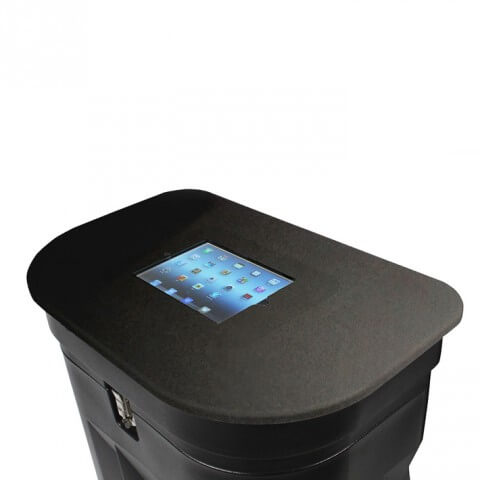 Table-top iPad holder - for Zeus wheeled drum - furniture, bags etc