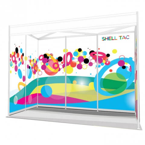 Exhibition graphics - ShellTac shell scheme display