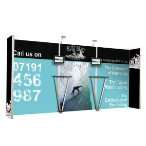 Fabric covered frame backdrop - Vector display stand