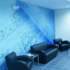Wall graphics make a great impact in reception areas
