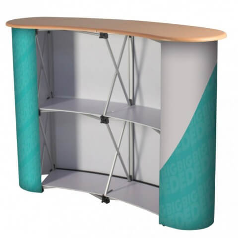 Curved Counter with Shelves
