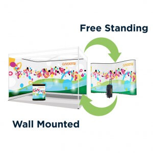 Curvorama wall-mounted and free-standing