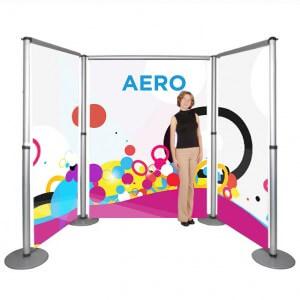 Linked roller banners - Aero modular roller banner