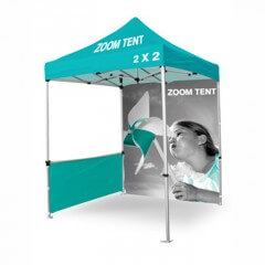 Zoom tent half wall
