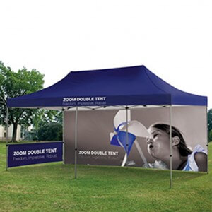 Large Zoom tent perfect for outdoor displays