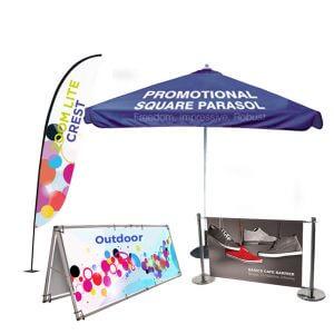 Outdoor exhibition displays