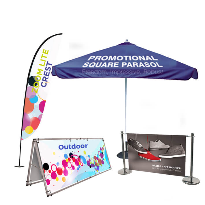 Outdoor exhibition displays