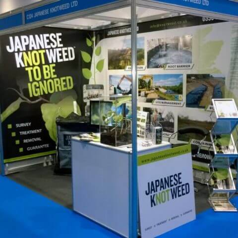 Curvorama was used by Japanese Knotweed to create an eye-catching and successful exhibition stand