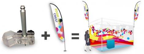 PoleFlag - Fresco shell scheme signage