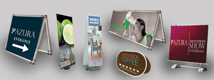 Outdoor display banners