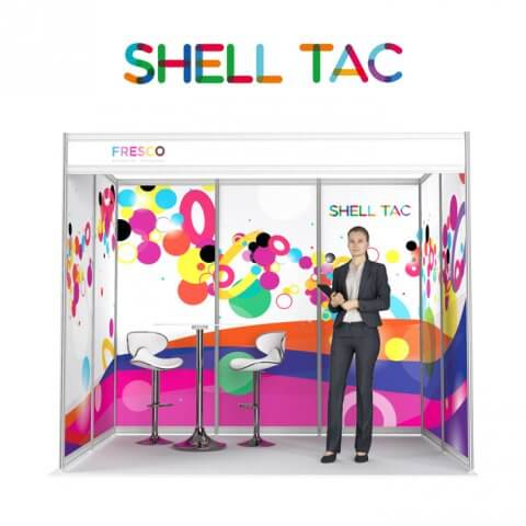 Shell scheme display - ShellTac smooth-on panels