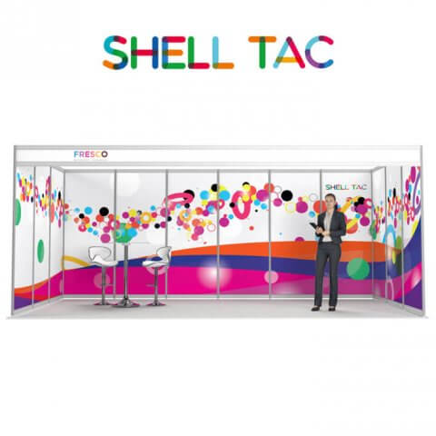 ShellTac shell scheme display made-to-measure floor-to-ceiling graphics.