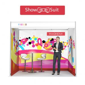 Shell scheme liner - ShowSuit fabric display