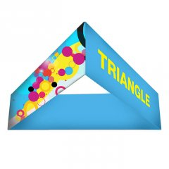 Fabric displays - Formulate triangle hanging structure