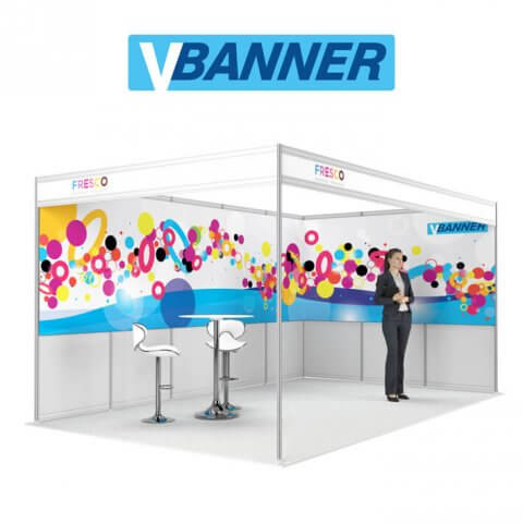 VBanner rollout banner system eye-level continuous graphics