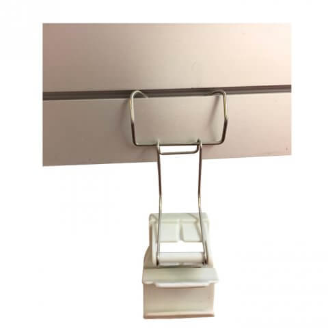 Shell scheme display - adaptor clip on top rail