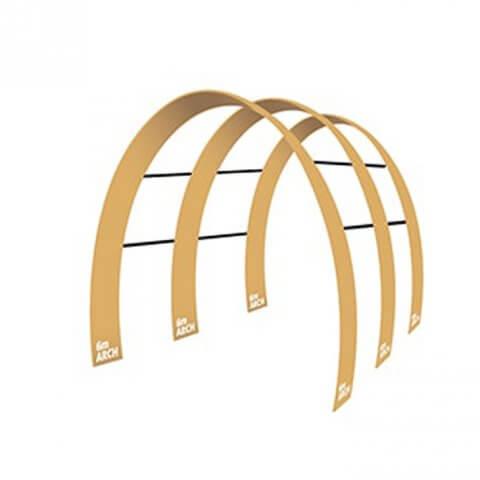 Triple Arch fabric display - Formulate Triple 6m Arch
