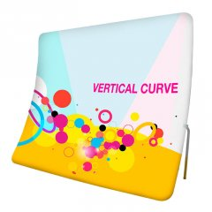 Vertical Curve display - Formulate Vertical Curve fabric display system